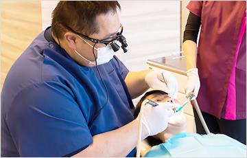 できる限り歯を削らない治療を目指します