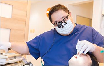 虫歯を治療する場合
