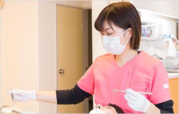 歯科衛生士が複数名在籍